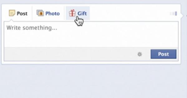Facebook gifts shop