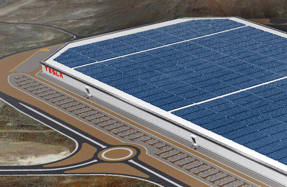 Tesla Gigafactory Solar Panels